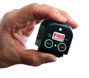 FAG SmartCheck – das Messsystem mit den geringen Abmessungen von nur ca. 44mm x 58mm x 45mm