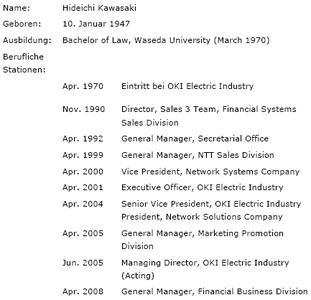 Kurze Biografie des neu ernannten CEO