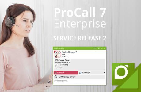 Das Service Release 2 für ProCall 7 Enterprise ist ab sofort verfügbar