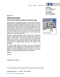PR PDF PicoCube Ultra-Precise Positioning System for Nanotechnology