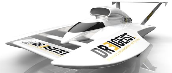Hochgeschwindigkeitsboot, konstruiert durch DREIGEIST
