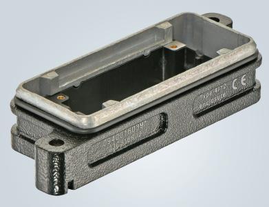 Han® HPR 16 B Anbaugehäuse, in das sich die Einsätze von hinten einrasten lassen