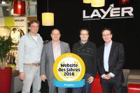 von links nach rechts: Wolfram Brunnbauer (EDV LAYER-Grosshandel), Rainer Schmelzle (Leitung Vertrieb ElectronicSales), Norbert Weiß (Leiter Marketing LAYER-Grosshandel), Martin Pfisterer (Geschäftsführer ElectronicSales)