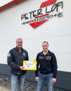 Peter Lofi (Firmeninhaber, links) und Matthias Neuking (Meister und Geschäftsführer) von der Peter Lofi Versorgungstechnik GmbH aus Bochum