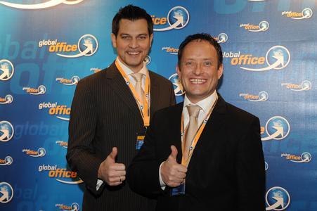 André Maschmann & Erik Krömer, Geschäftsführer der global office Franchise Dt. GmbH