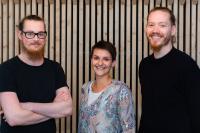 Das Gründerteam von Vaira (v.l.) Sebastian Eßfeld, Saskia te Marveld und Maximilian Erdmann.
