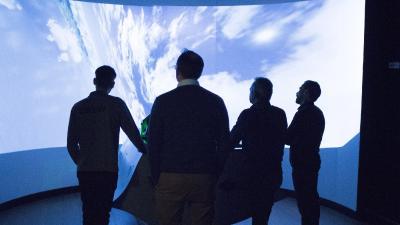 Action im Flugsimulator bei den ARTEC Partner Days 2017