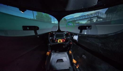 Driving simulation technologies from VI-grade play an essential role in race preparation for Formula E (image courtesy of Audi Motorsport)