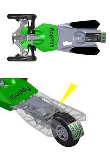 Kompakt, wartungsfrei, komfortabel und dabei geeignet für eine Nutzlast von 100 kg: die Tandemkonstruktion mit TUBUS Strukturdämpfern des Typs TR52-32H, die bis zu 11,7 Nm/Hub aufnehmen