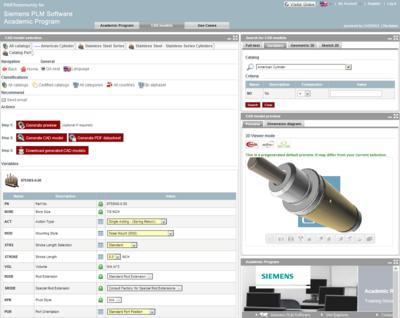 Mit dem Siemens PLM Software Academic Program haben Studenten weltweit kostenlosen Zugriff auf Millionen von Teilen im 2D & 3D CAD Format aus über 400 Katalogen namhafter Hersteller