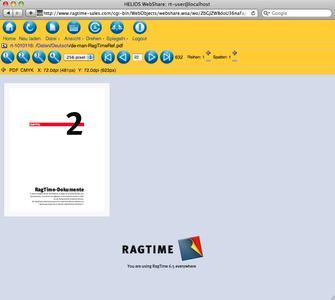RagTime 6.5 Webspeicher