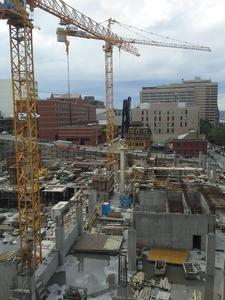 In total, the Putzmeister equipment will pump approximately 48,000 cubic yards (44,000m3) of concrete for the Nova Centre project.