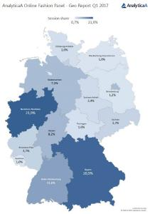 Bundesländer-Vergleich Traffic / Quelle: AnalyticaA Performance Marketing GmbH