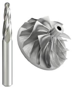 Neue Schaftfräser für die aluminium Impellerbearbeitung