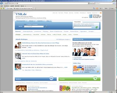 Screenshot www.vnr.de