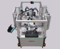 Die RETRAYER Edition der Advanced Robotic Workstation Plattform mit 3 integrierten Roboterarbeitsplätzen.