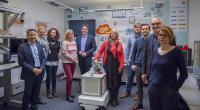 Das SPD-Team für die Enquetekommission und Christoph Müssener an der Lucas-Nülle Lernfabrik 4.0