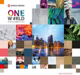 The key visual of the ONE WORLD COLLECTION, which expresses our world's colourful diversity. Create your own unique interior décorating style (photograph: SWISS KRONO)