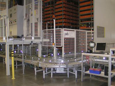 Produktions- und Ersatzteilelager mit psb sprinter® Regalbediengeräten
