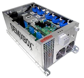 Die SEMiXBOX-Plattform wurde als leistungselektronische Lösung für Gleichrichter und Wechselrichter in AC-/ DC-Antrieben, Solarkraftwerken, USV und Umrichteranwendungen entwickelt