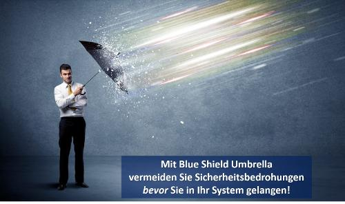 Blue Shield Umbrella
