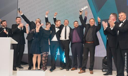 Das Team von Brieforuck zur Preisverleihung