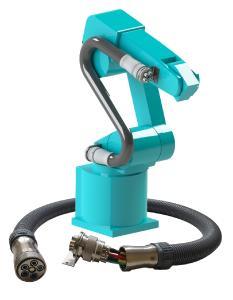 Die MULTILINE E Wechseleinheit für Roboter ermöglicht die Montage und Demontage der kompletten Versorgungsleitungen in wenigen Minuten