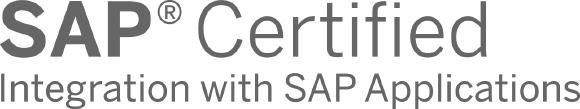 Logo SAP Certified Integration with SAP Applications