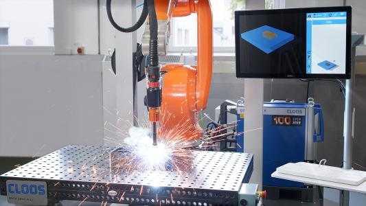 The IRPS Instant Robot Programming System allows efficient welding of small batch sizes with minimum programming effort
