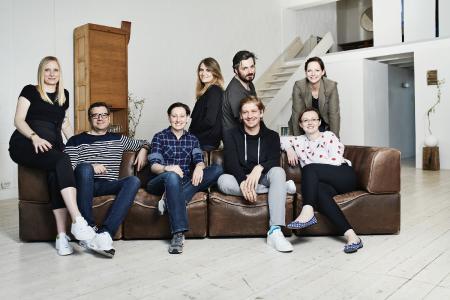 Die Führungsebene von TWT Interactive mit den beiden Geschäftsführern Dinah Erdmann und Marc Heydrich (Mitte)