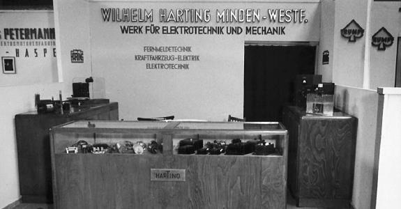 Erster HARTING Messestand 1947 auf der Hannover Messe