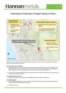 Hannan announces copper-gold porphry discovery at Ucayali in Peru samples up to 25.6% copper
