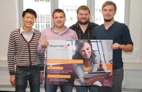 Die neuesten Gesichter bei shoptimax (v.l.n.r): Xiuqi Zhu, Christian Lang, Artem Eremitschew und Christian Voss.