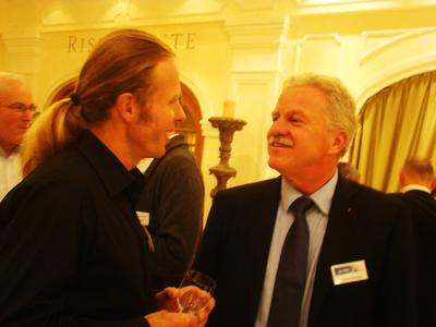 Robert Jaspers (l.i.B. im Gespräch mit Thomas Nieberle, Geschäftsführer der datadirect, war gestern Gast bei der Security-Konferenz in Rust