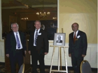 "Helmut Eckardt of Battenfeld Injection Molding in the ""Hall of Fame"" at Akron University, U.S.A."