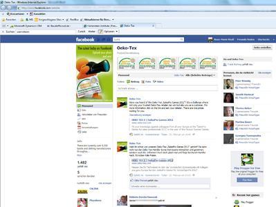 Seit Ende letzten Jahres ist die Internationale OEKO-TEX® Gemeinschaft bei Facebook aktiv und zählt bereits knapp 1.500 Fans