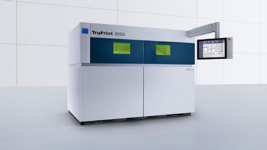 C 1: With its industrial part and powder management features, the TruPrint 3000 is used for the series production of complex, metal components
