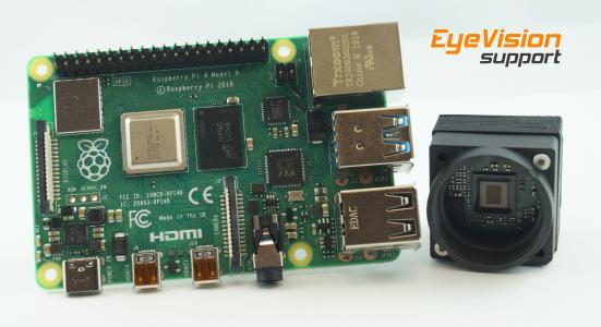 Neuer Raspberry Pi 4 für Bildverarbeitung mit MIPI- oder Standardkameras