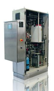 The electrolysis system DULCO®Lyse produces low chlorate and low chloride disinfectant of a consistent quality at low cost