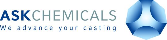 The new logo of ASK Chemicals, Hilden, Germany