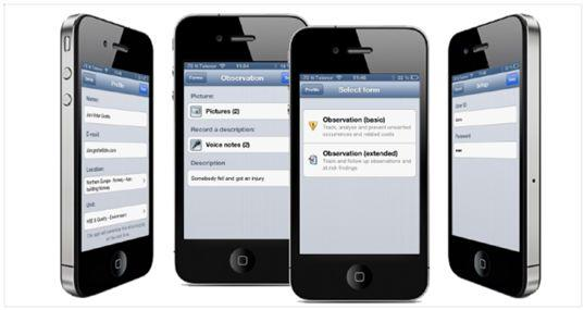 Synergi Life Mobile App on phone