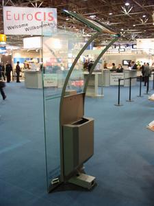 HoloPresenter auf der EuroCIS 2007 (Rückansicht)