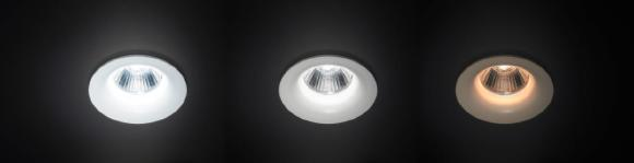 recessed spot dim2warm by BRUMBERG with adjustable colour temperature