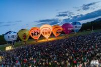 """Der neue FEIG-Heißluftballon beim """"FFH Night Glow"""""""