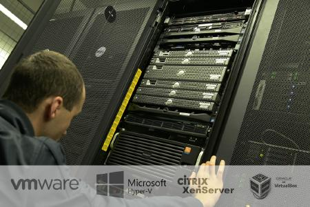Ursachen für Datenverlust in virtuellen Systemen: Foto Data Center mit virtuellen Hosts