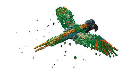 Die Titelseite des Katalogs ziert ein Papagei aus elektromechanischen Bauelementen (Bildquelle: Würth Elektronik eiSos)