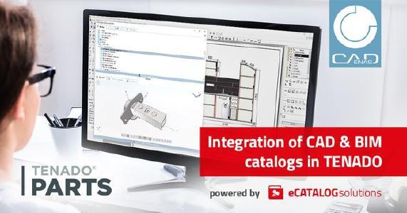 TENADO expands CAD & BIM catalog integration powered by CADENAS