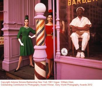 Copyright Antonia Simone Barbershop New York 1961 Vogue. William Klein, Outstanding Contribution to Photography Award Winner, Sony World Photography Awards 2012