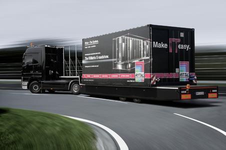 Die Rittal RiMatrix S Roadshow startet in die zweite Runde. 16 Länder wird der Truck bis November bereisen, Bild:  Rittal GmbH & Co. KG