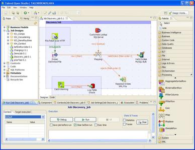 Screenshot von Talend Open Studio 3.0